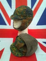GERMAN MILITARY ARMY CAMO COLD WEATHER HAT WITH PULL DOWN SIDES